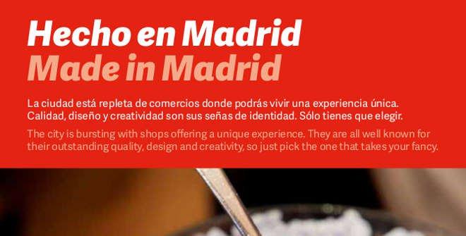 Folleto Hecho en Madrid