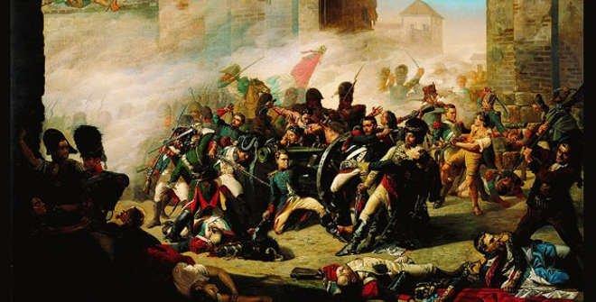 Muerte de Daoiz y defensa del Parque de Monteleón. Manuel Castellano. 1862. Biblioteca Digital Memoria de Madrid.