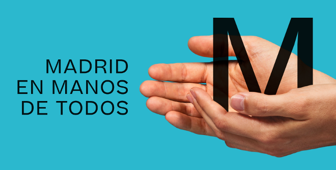 Campaña Madrid en manos de todos. Frenar el contagio y mantener la situación bajo control depende, en gran medida, de nuestra responsabilidad individual. Proteger a nuestros mayores, vecinos y amigos está en manos de todos.
