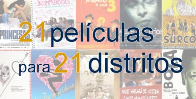 21 películas. 21 distritos de Madrid