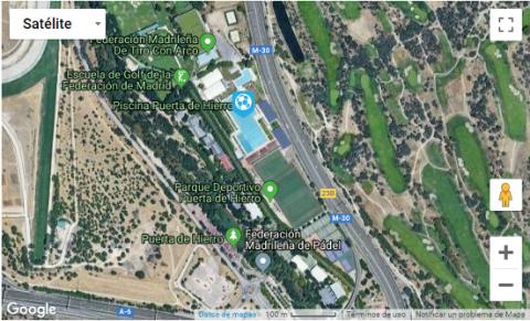 Parque Deportivo Puerta de Hierro. Pulsa en la imagen para ver la situación del recurso en Google Maps