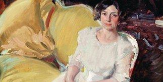 Clotilde sentada en un sofá, 1910. Óleo sobre lienzo. Museo Sorolla, Madrid © Ministerio de Cultura