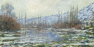 Deshielo Vetheuil. 1880. Claude Monet.  © Museo Nacional Thyssen-Bornemisza, Madrid.