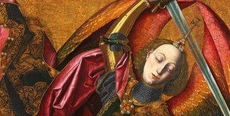 Saint Michael Triumphs over the Devil, Artist: Bartolome Bermejo, 1468