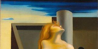 Salvador Dalí. Les roses sanglantes, 1930. Óleo sobre lienzo, 61 x 50 cm Colección de Arte ABANCA © Salvador Dalí, Fundación Gala-Salvador Dalí / VEGAP, Madrid