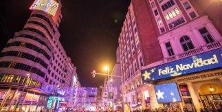 Luces de Navidad Madrid 2018-2019. Gran Vía desde Callao