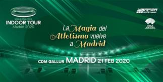 Meeting de atletismo Indoor Madrid. Gallur 21 febrero 2020