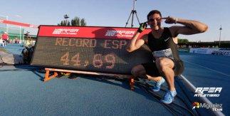 Meeting Madrid 2018. Récord de España 400 metros lisos de Bruno Hortelano.