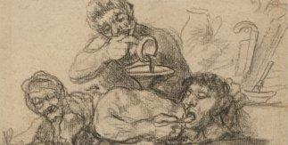 Gran disparate. Francisco de Goya. 1824 - 1828. Lápiz sobre papel verjurado, agrisado, 192 x 152 mm.